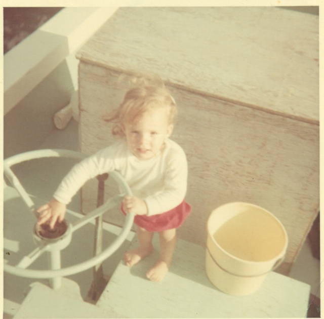 Me, long before the nickname kerplunk