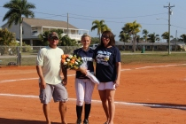 Senior night at softball