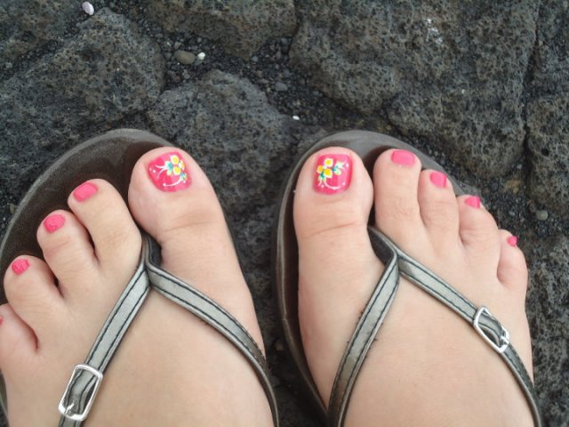 Pedi in Hawaii