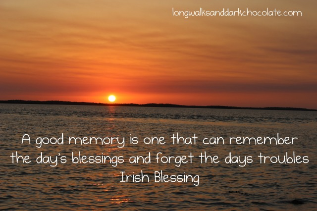 Irish blessing with background of Everglades sunset.