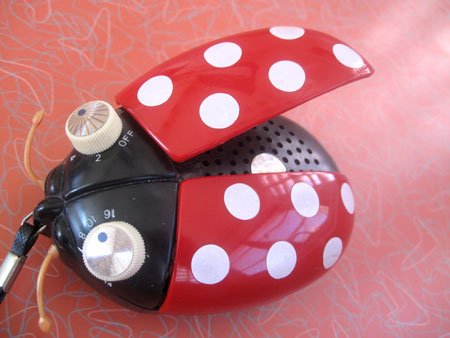 Vintage lady bug radio