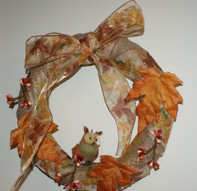 Owl fall wreath