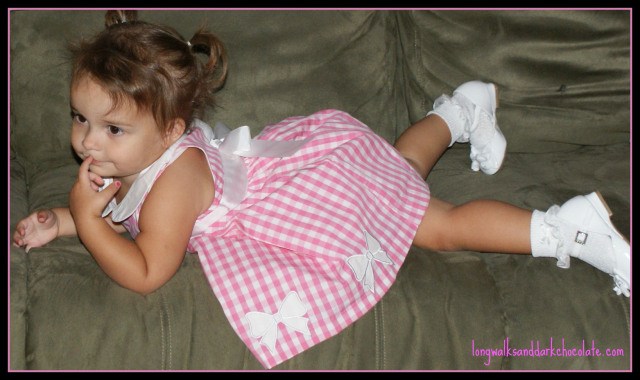 Princess Ayda on the old green couch